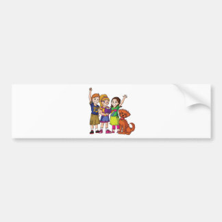 The Adventures of Pinky and Peanut Car Bumper Sticker