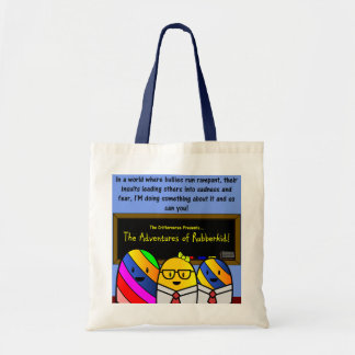 The Adventures of Rubberkid Tote Bag