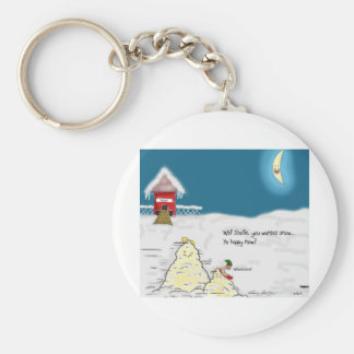 The Adventures of Shellie and Hatch -10 Basic Round Button Keychain