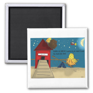 The Adventures of Shellie and Hatch -11 2 Inch Square Magnet
