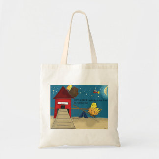 The Adventures of Shellie and Hatch -11 Budget Tote Bag