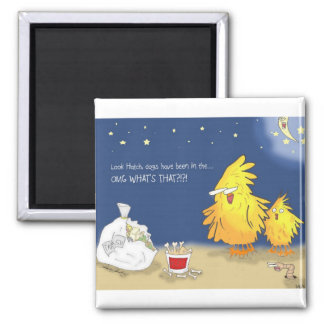 The Adventures of Shellie and Hatch -2 2 Inch Square Magnet