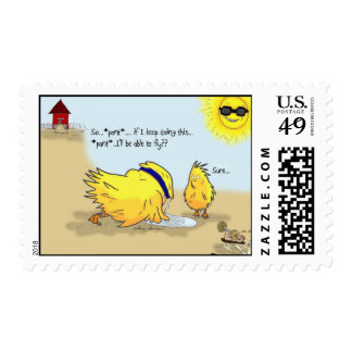 The Adventures of Shellie and Hatch -3 Postage Stamp
