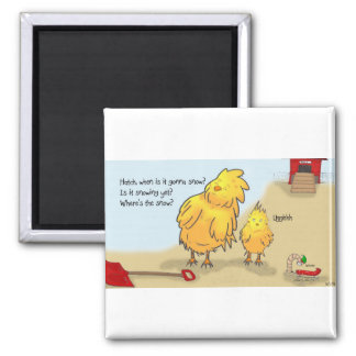 The Adventures of Shellie and Hatch -4 2 Inch Square Magnet