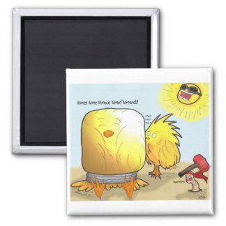 The Adventures of Shellie and Hatch -5 2 Inch Square Magnet