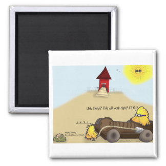 The Adventures of Shellie and Hatch -7 2 Inch Square Magnet