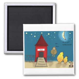 The Adventures of Shellie and Hatch -8 2 Inch Square Magnet