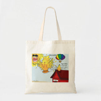 The Adventures of Shellie and Hatch -9 Budget Tote Bag