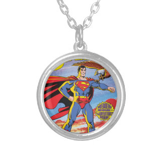 The Adventures of Superman #424 Silver Plated Necklace