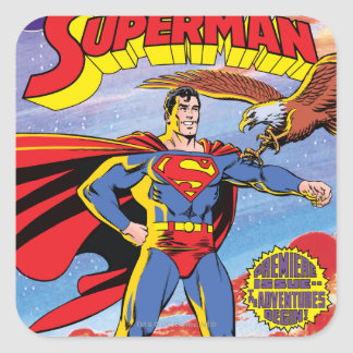 The Adventures of Superman #424 Square Sticker