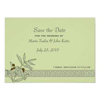 "The Aegean Save the Date Invitation 4.5"" X 6.25"" Invitation Card"
