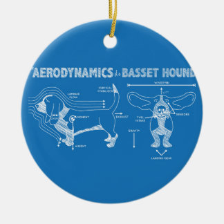 The Aerodynamics of a Basset Hound Double-Sided Ceramic Round Christmas Ornament