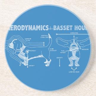 The Aerodynamics of a Basset Hound Sandstone Coaster