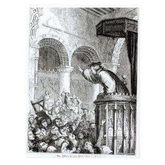 The Affray in the High Church, Edinburgh Postcard