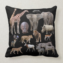 The African animal Throw Pillow