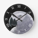 The African Gray Parrot Wall Clock