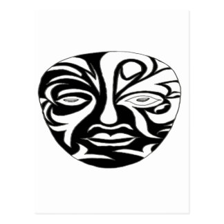 The AFRICAN MASK NOIR1.png Postcard