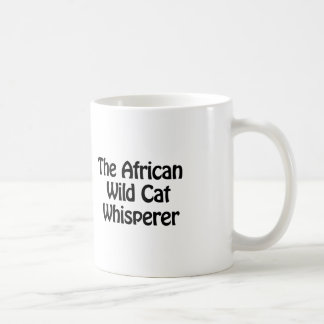The African Wild Cat Whisperer Classic White Coffee Mug