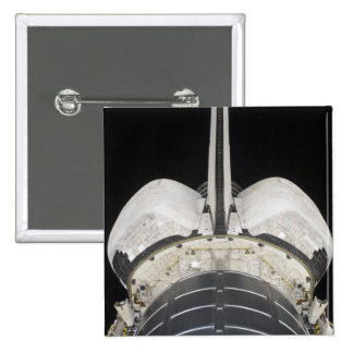 The aft portion of the Space Shuttle Endeavour Pinback Button