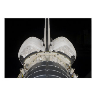 The aft portion of the Space Shuttle Endeavour Poster