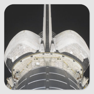 The aft portion of the Space Shuttle Endeavour Square Sticker