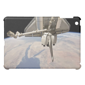 The aft section of the docked space shuttle case for the iPad mini