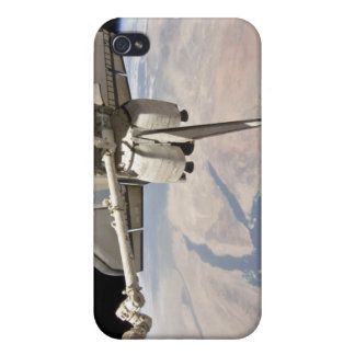 The aft section of the docked space shuttle iPhone 4 covers