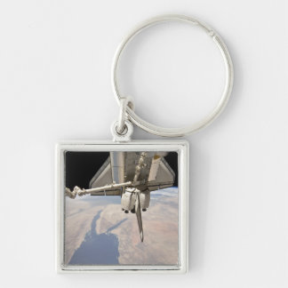 The aft section of the docked space shuttle keychain