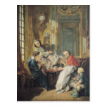 The Afternoon Meal, 1739 Postcard
