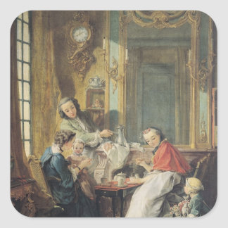 The Afternoon Meal, 1739 Square Sticker