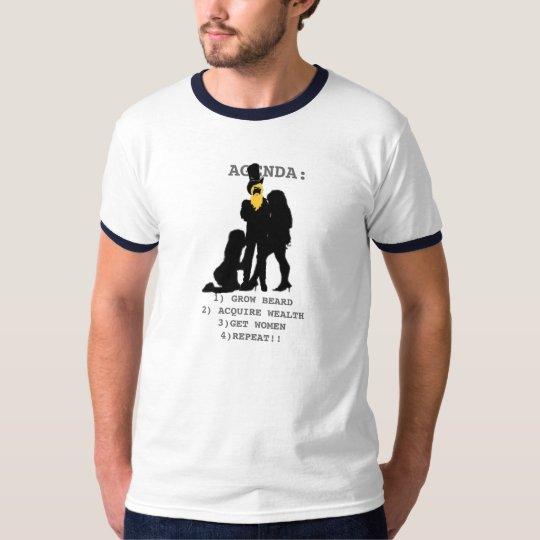 The agendfa of the beard growing male T-Shirt