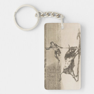 The Agility and Audacity of Juanito Apinani Goya Keychain