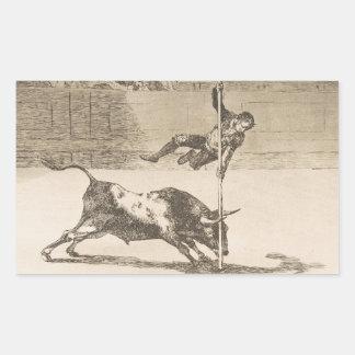 The Agility and Audacity of Juanito Apinani Goya Rectangular Sticker