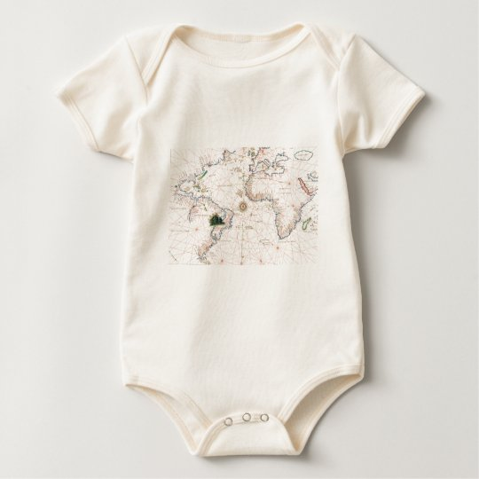 The Agnese Atlantic Chart Baby Bodysuit