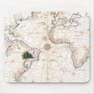 The Agnese Atlantic Chart Mouse Pad