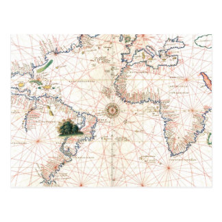 The Agnese Atlantic Chart Postcard