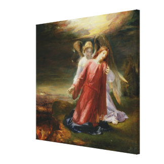 The Agony in the Garden, 1858 (oil on panel) Stretched Canvas Prints