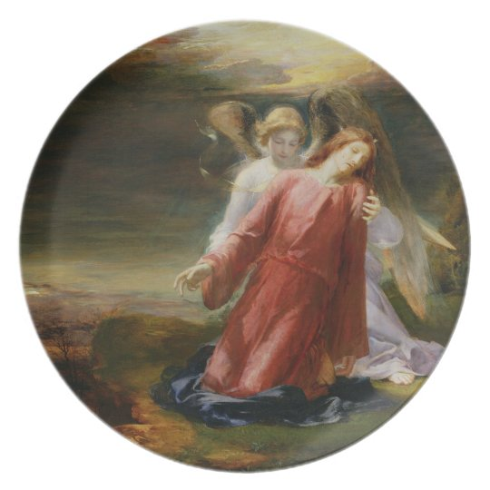 The Agony in the Garden, 1858 (oil on panel) Plate
