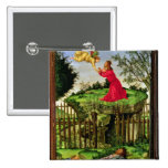 The Agony in the Garden, c.1500 2 Inch Square Button
