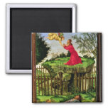 The Agony in the Garden, c.1500 2 Inch Square Magnet