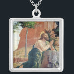 """The Agony in the Garden Silver Plated Necklace<br><div class=""""desc"""">The Agony in the Garden,  left hand predella panel from the Altarpiece of St. Zeno of Verona,  1456-60 