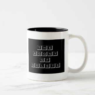 The Agony of Delete Two-Tone Coffee Mug