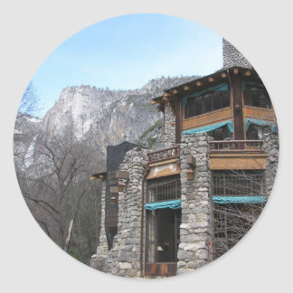 The Ahwahnee- Yosemite Classic Round Sticker
