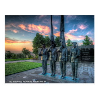 The Air Force Memorial Postcard