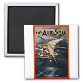 The Air Ship 2 Inch Square Magnet
