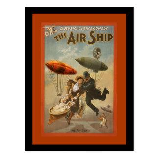 The Air Ship a Comedy Postcard