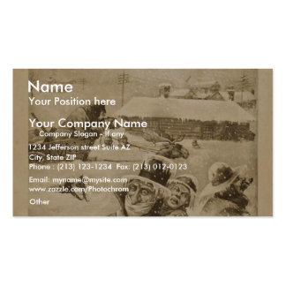 The Air Ship, 'A Spring Morning in Dawson City' Business Cards