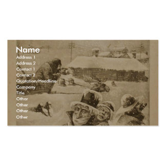 The Air Ship, 'A Spring Morning in Dawson City' Business Card Template