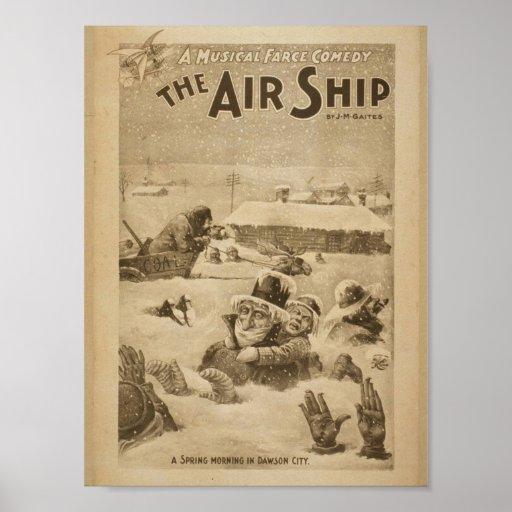 The Air Ship, 'A Spring Morning in Dawson City' Print