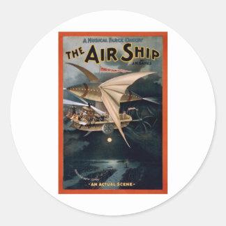 The Air Ship Classic Round Sticker